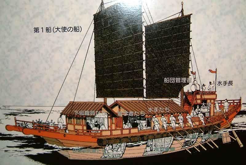 ancient japanese ships | Japanese envoy ship to Tang China ...