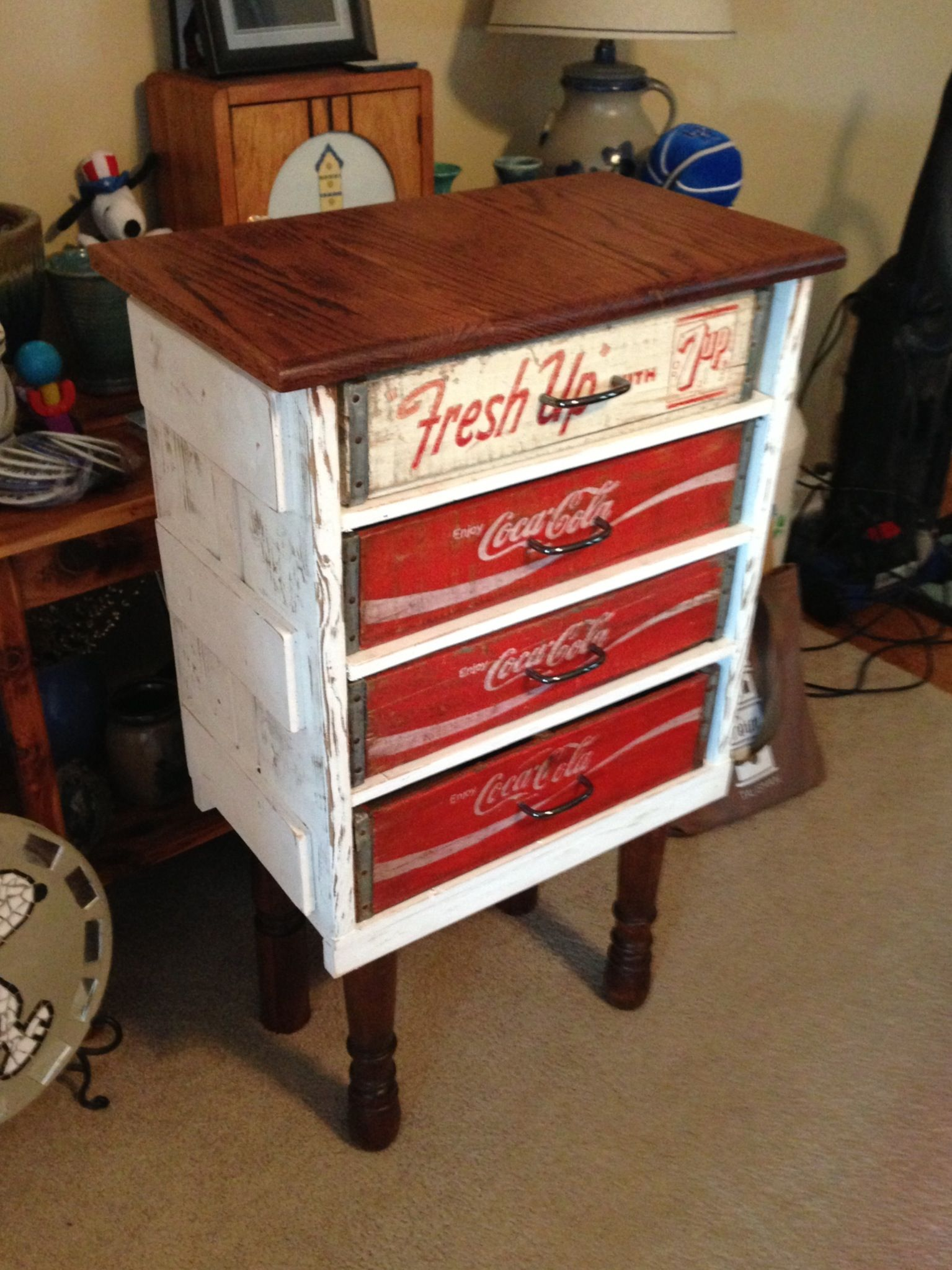 Coke Crate Cabinet Everything Used Is Something Repurposed