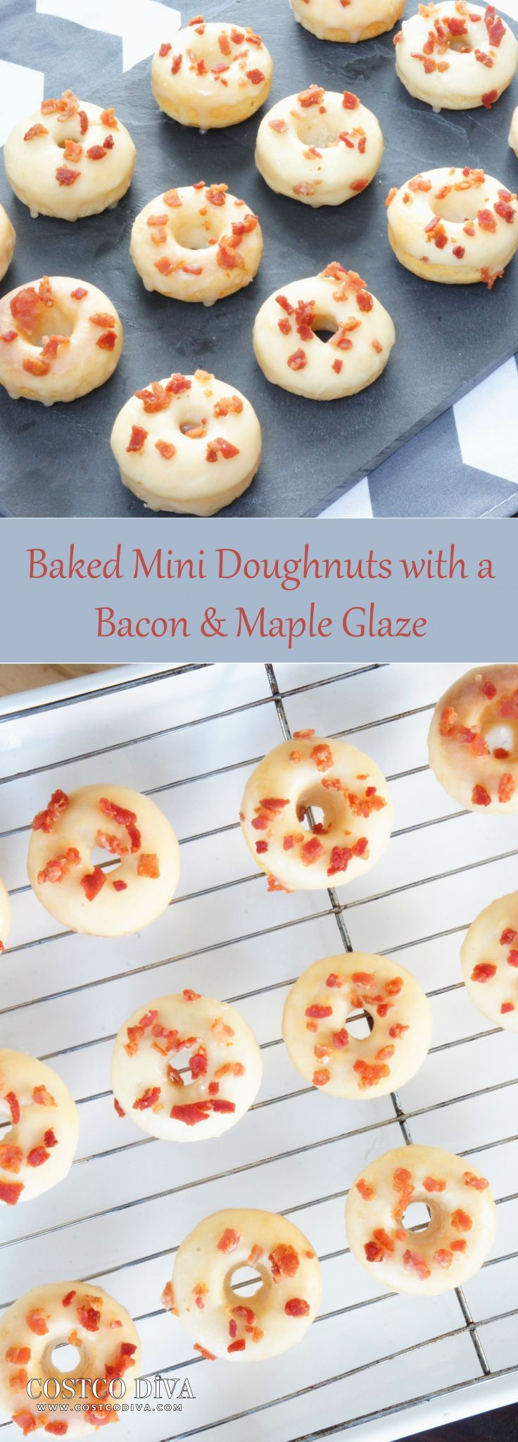 Baked mini doughnuts with a bacon maple glaze costco