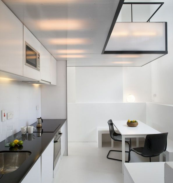 polycarbonate ceiling, concealed lighting Bestill hos finnloeken - k che wei matt grifflos