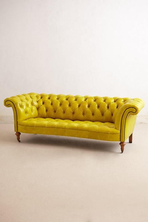 Yellow Leather Chesterfield Sofa Hausmobel Sofa Chesterfield Sofa