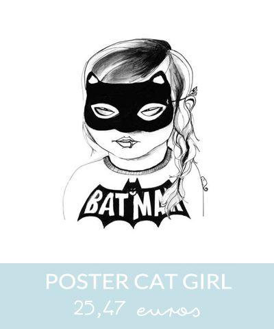 poster cat girl  // Hëllø Blogzine www.hello-hello.fr
