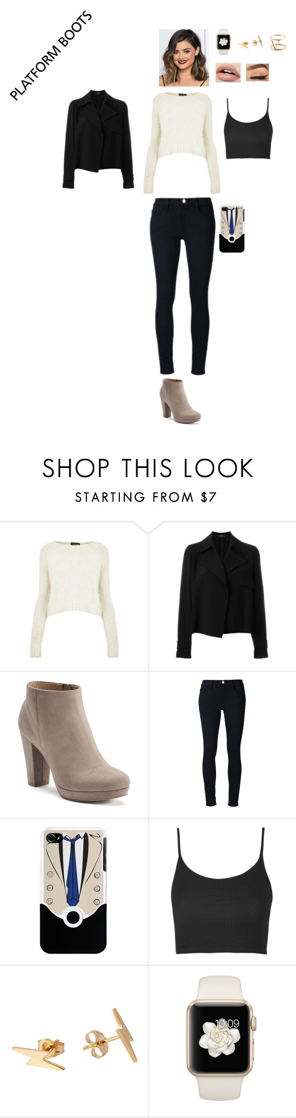 """""""Kickin' It: Platform Boots"""" by leacousty55 ❤ liked on Polyvore featuring Topshop, Theory, LC Lauren Conrad, Frame and SOKO"""