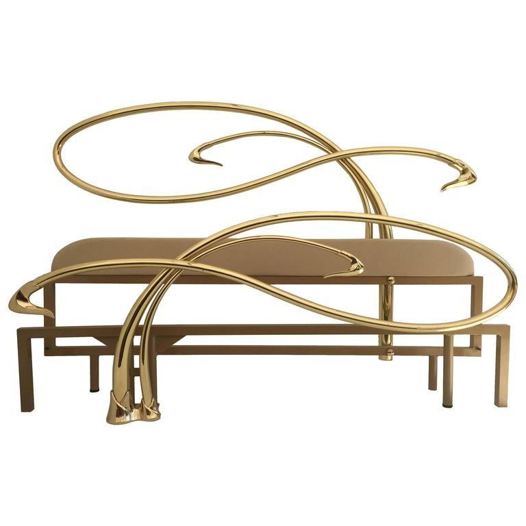 Astonishing Swan Motif Art Nouveau Style Brass King Size Bed In 2019 Creativecarmelina Interior Chair Design Creativecarmelinacom