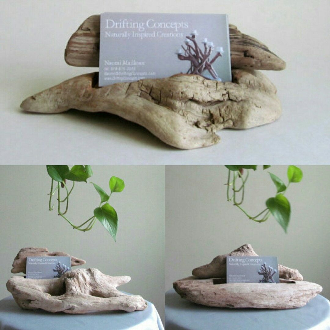 Carved driftwood business card holder driftwood business card a beautiful and unique way to display your business cards reheart Gallery