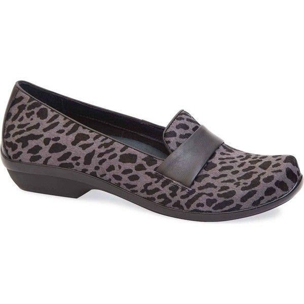 Dansko Women's Oksana Grey Cheetah Hair Calf Slip-Ons (8.890 RUB) ❤ liked