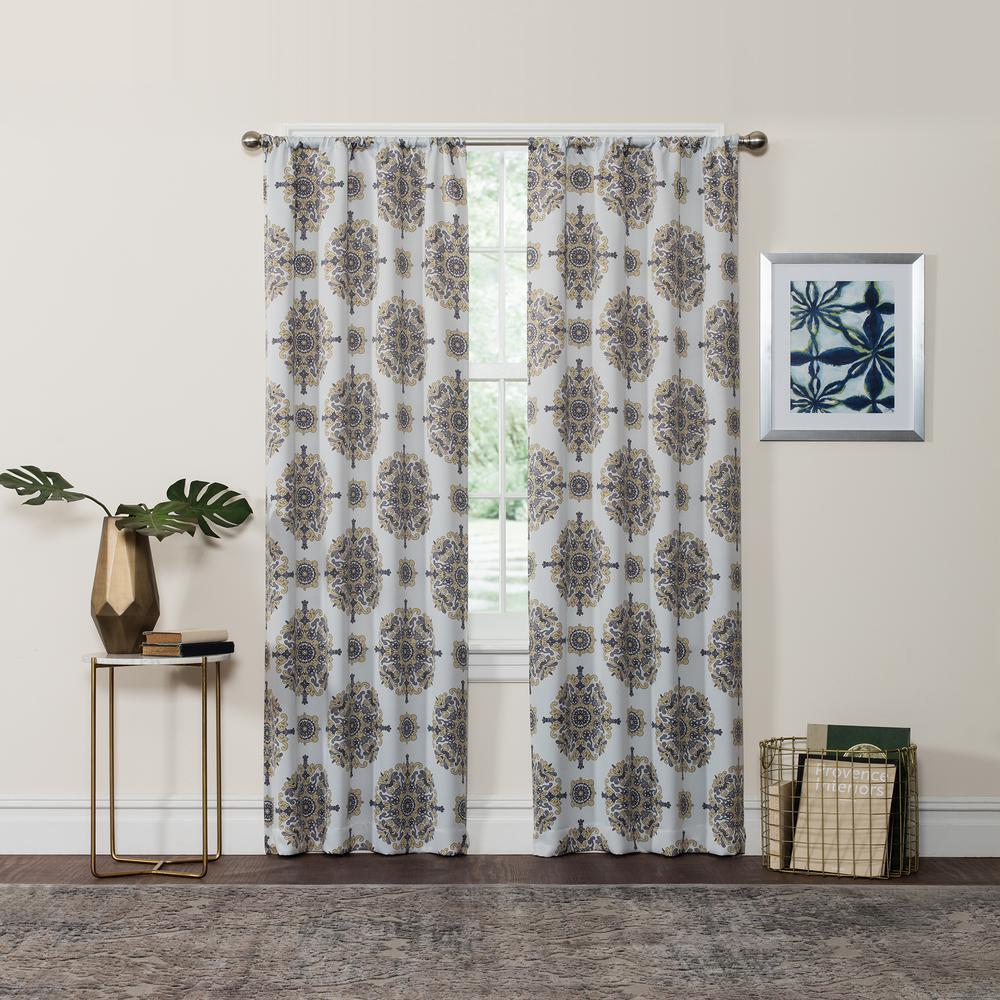 Eclipse Blackout Olivia 95 In L Yellow Rod Pocket Curtain 16003037095yel Panel Curtains Home Decor Curtains