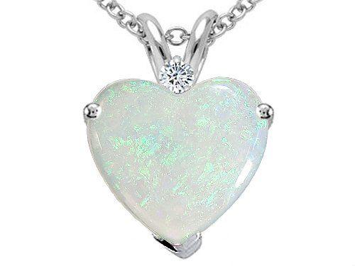 Tommaso designtm 8mm heart shape genuine opal and diamond pendant tommaso designtm 8mm heart shape genuine opal and diamond pendant in 14 kt aloadofball Gallery