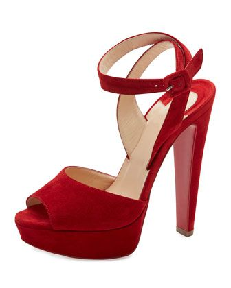77a081c4d78 Louloudancing+Platform+Red+Sole+Sandal+by+Christian+Louboutin +at+Bergdorf+Goodman.