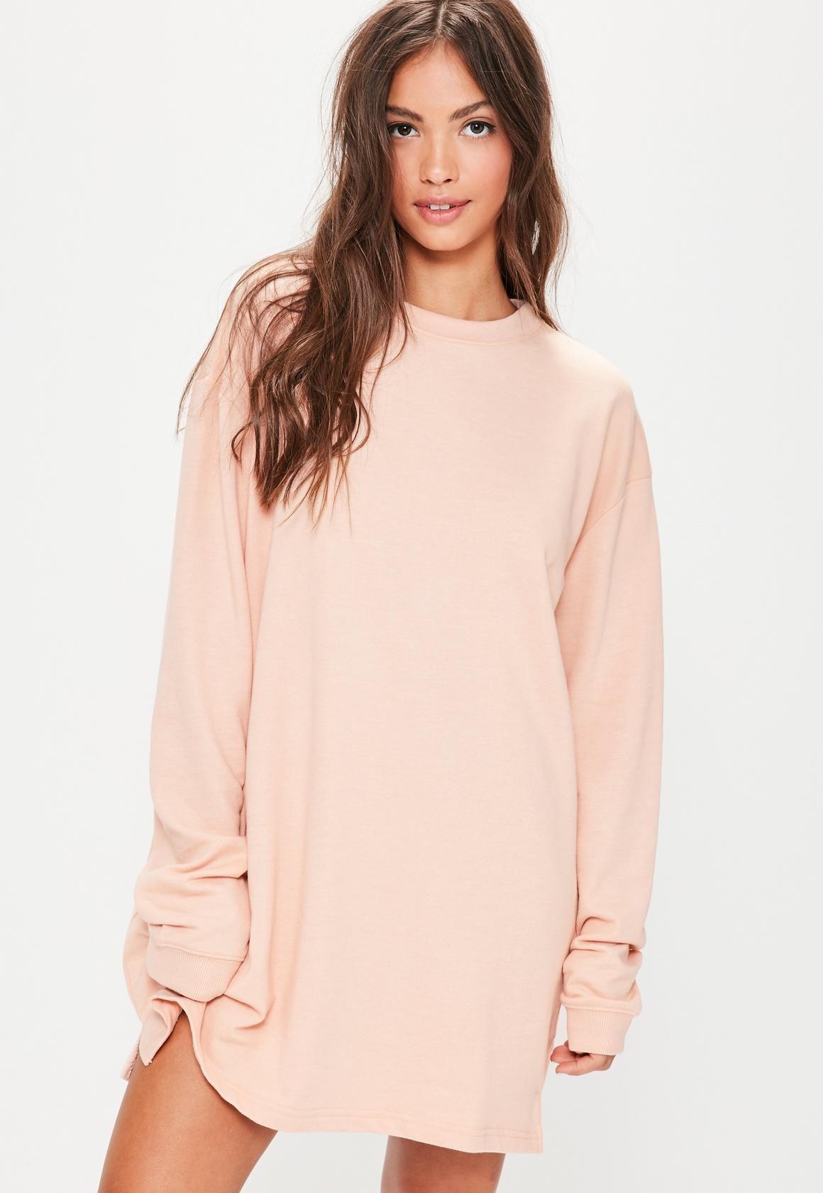 99e77bde103 Missguided - oversized sweater dress nude