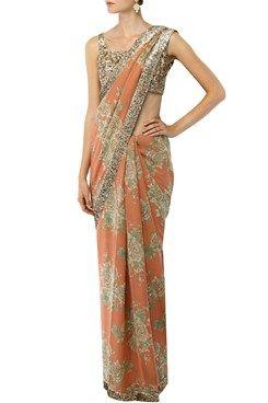 56c1c9c16bc6eb Sabyasachi indian designer floral printed sarees online | Indore ...