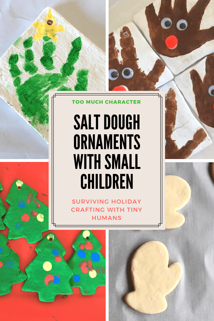 Salt Dough Ornaments With Small Children Too Much Character Salt Dough Ornaments Funny Christmas Ornaments Homemade Christmas Ornaments Diy