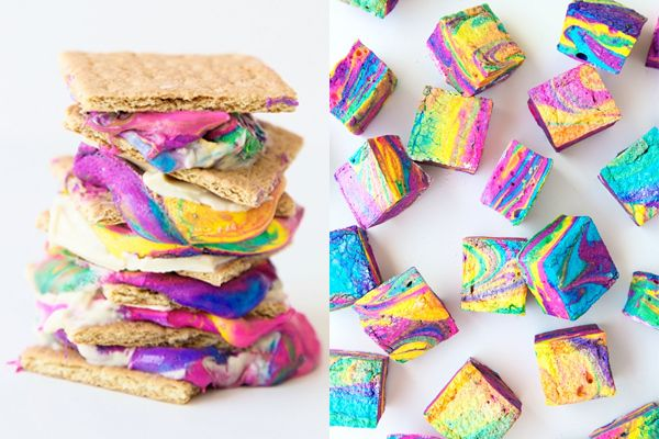 Loving these DIY tie dyed s'mores from Studio DIY!
