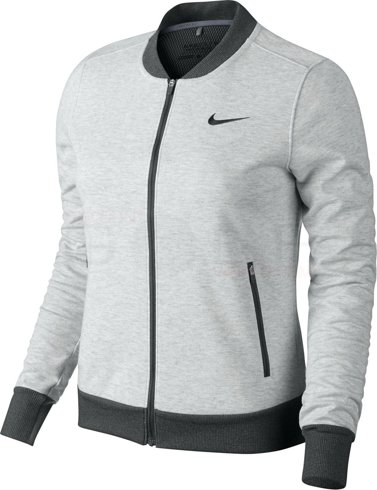 Nike jacket gray and black - Nike Women S Wool Bonded Bomber Jacket 685301 Discount Golf World
