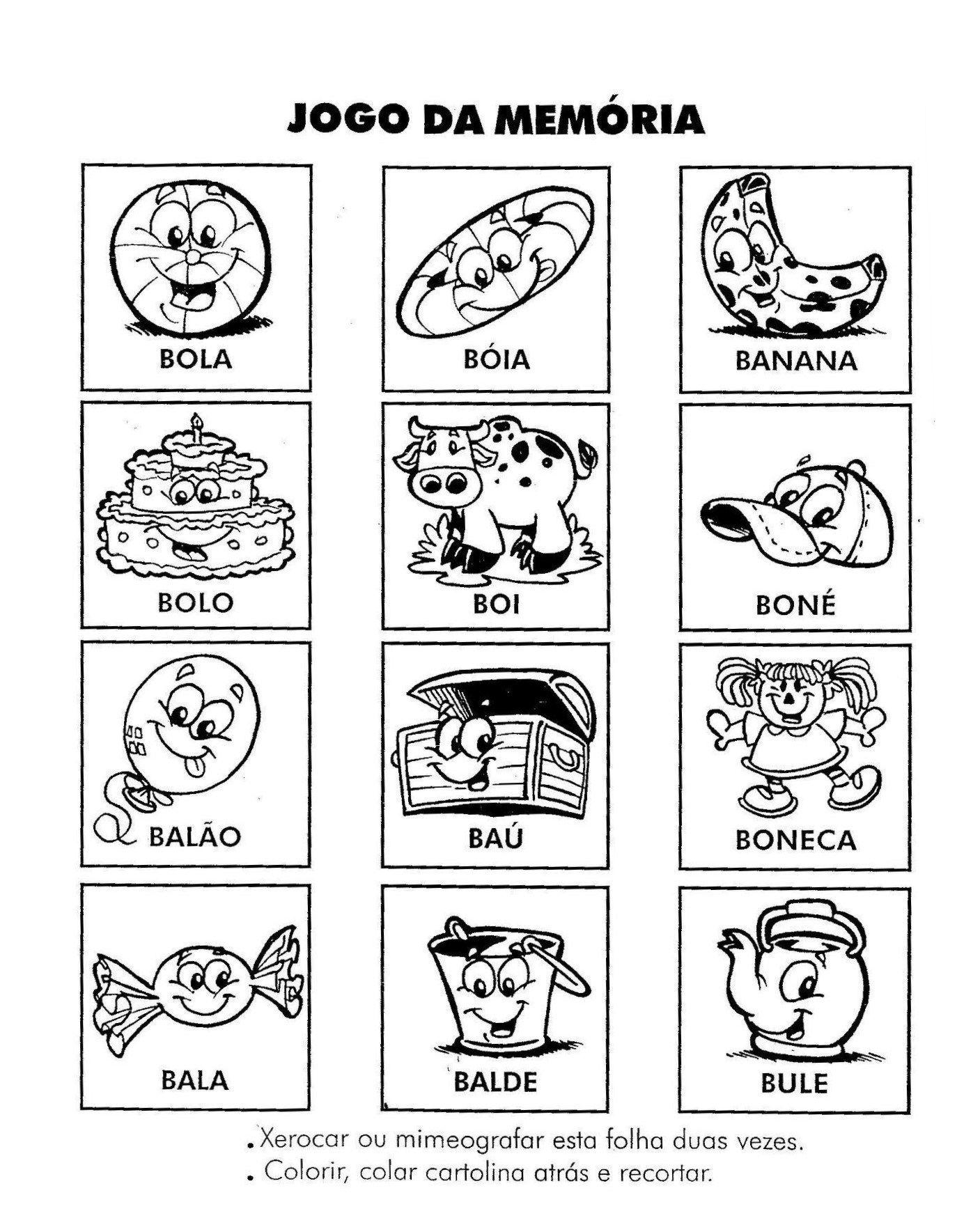 40 Jogos Da Memoria Para Imprimir Educacao Infantil E Maternal Online Cursos Gratuitos Educacao Infantil Letra B Atividades