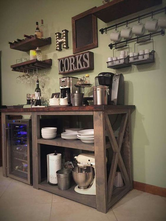 49 Exceptional DIY Coffee Bar Ideas for Your Cozy Home | Bar, Coffee ...