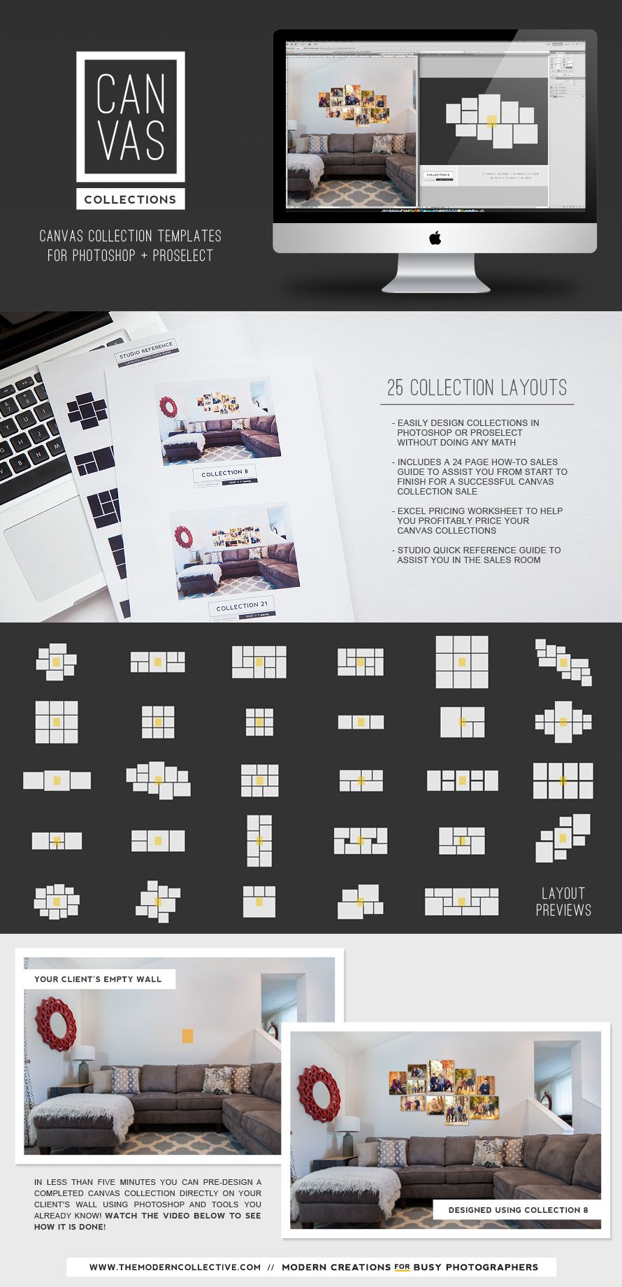 Canvas Collection Templates for Photoshop or ProSelect from The ...