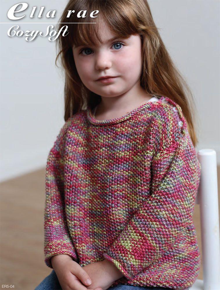 877ba3cdb Moss Stitch Sweater in Ella Rae Cozy Soft Print - ER5-04 ...
