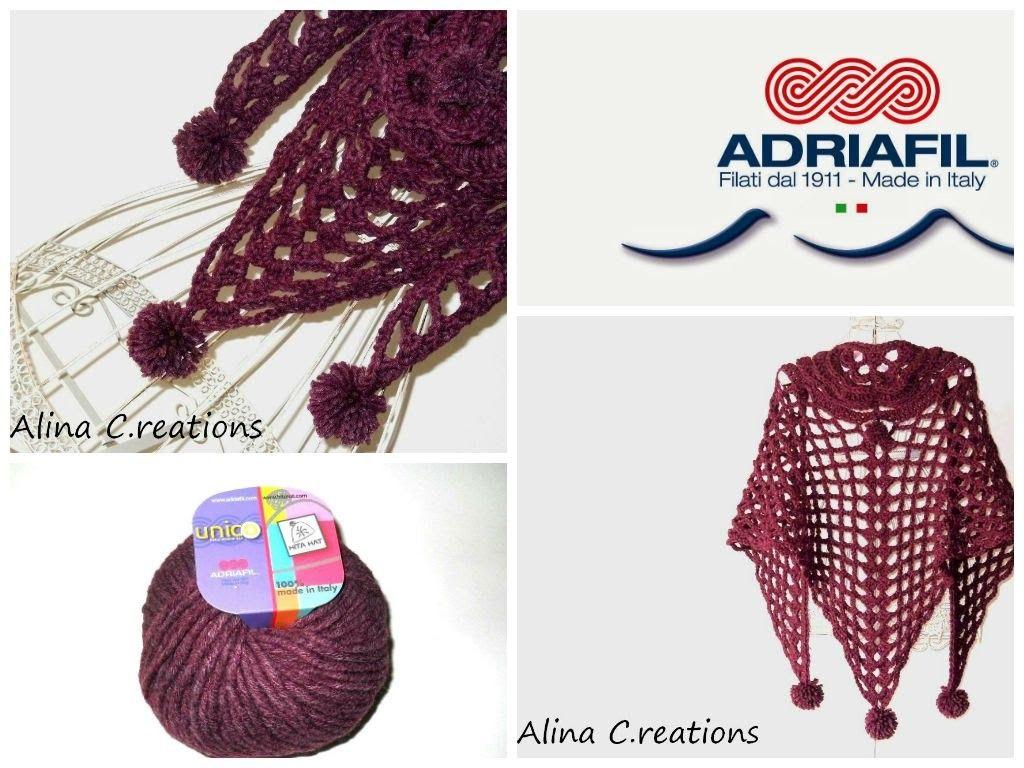 Lilla\'a tutorials: scialle crochet PonPon. parte 3 di 3