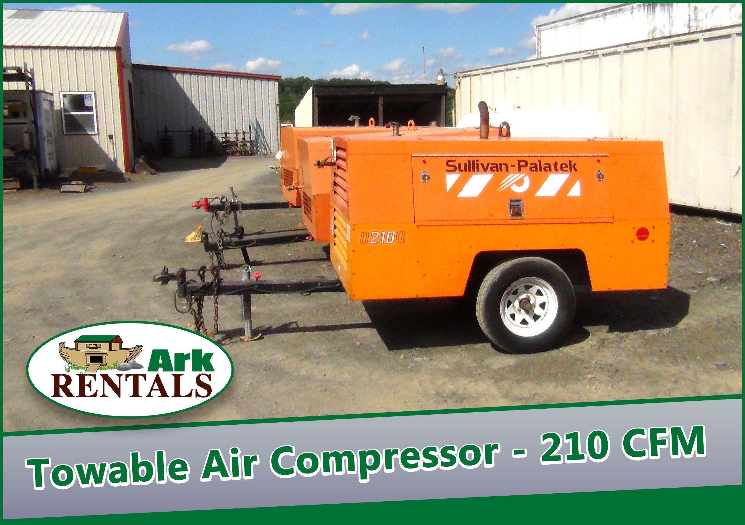 Rent a Towable Air Compressor 210 CFM 4 Hours 77.50