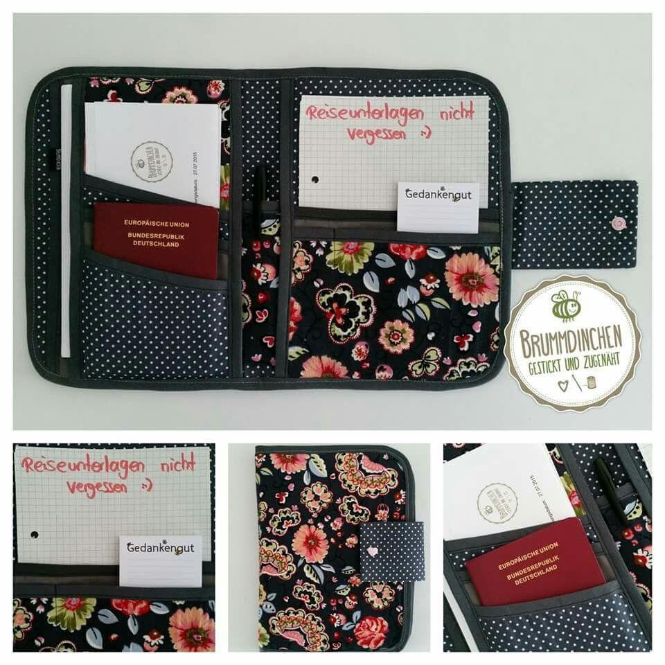 Reisetasche für Unterlagen | Sewing | Pinterest | Reisetaschen ...
