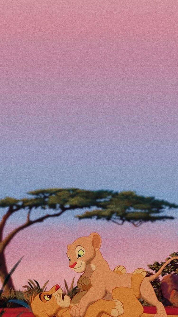 Simba E Nala Disney Background Disney Wallpaper Wallpaper Iphone Disney