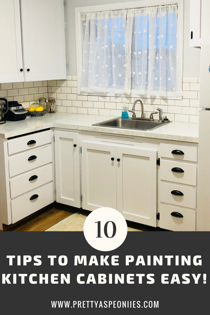 10 Tips For Painting Kitchen Cabinets Pretty As Peonies Painting Kitchen Cabinets Kitchen Cabinets Diy Kitchen Remodel
