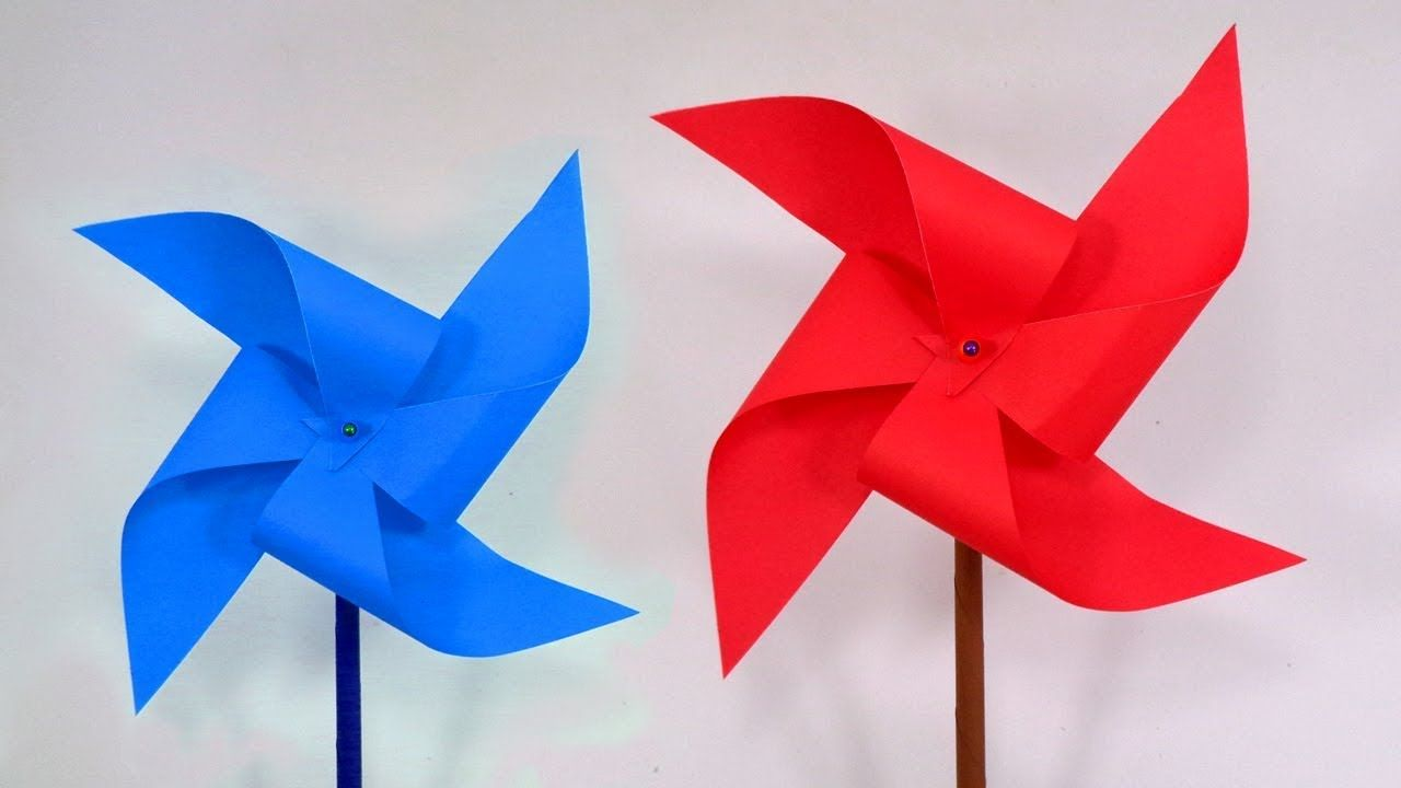How To Make A Paper Pinwheel That Spin Fast Diy Paper Windmill