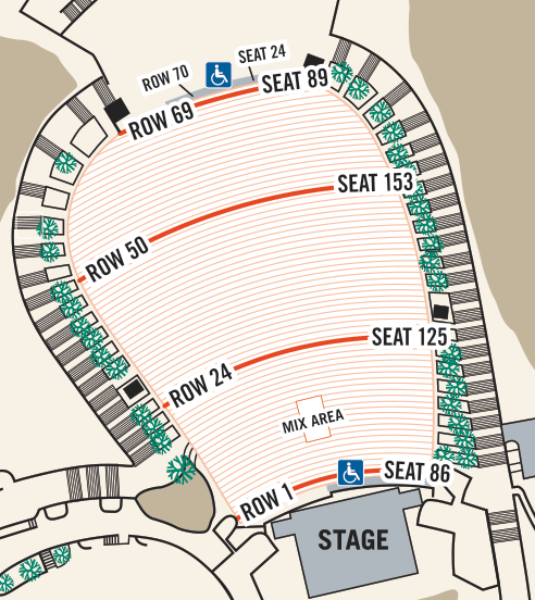 Red Rocks Amphitheatre Seating Chart Seat Guide Tickpick Red Rock Amphitheatre Red Rock Red Rocks Concerts