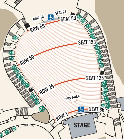 Red Rocks Amphitheatre Seating Chart Seat Guide Tickpick Red Rock Amphitheatre Red Rock Amphitheater