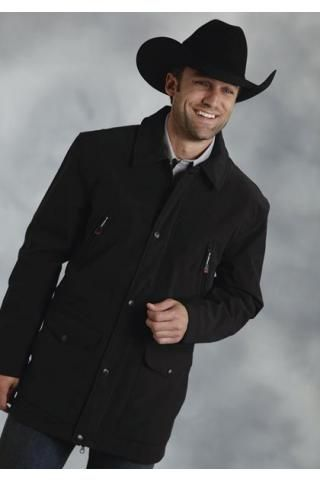 Roper Mens Black Polyester Softshell Barn Jacket