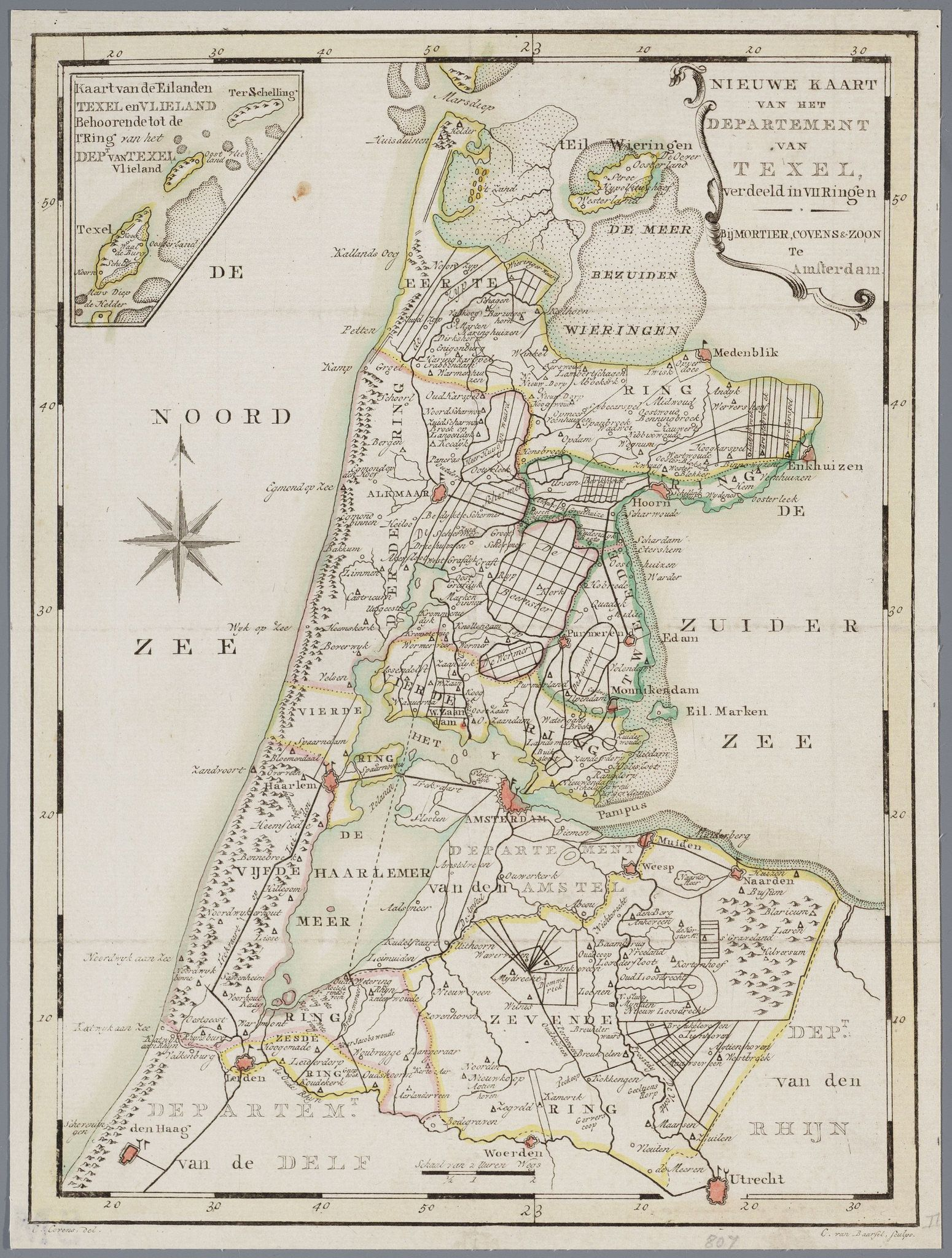 Noord Holland 1799 Holland Map Map Historical Maps