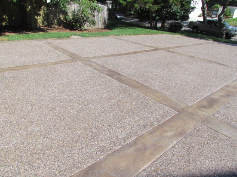 Aggregate concrete ideas stamped concrete driveways 37 for Concrete driveway designs