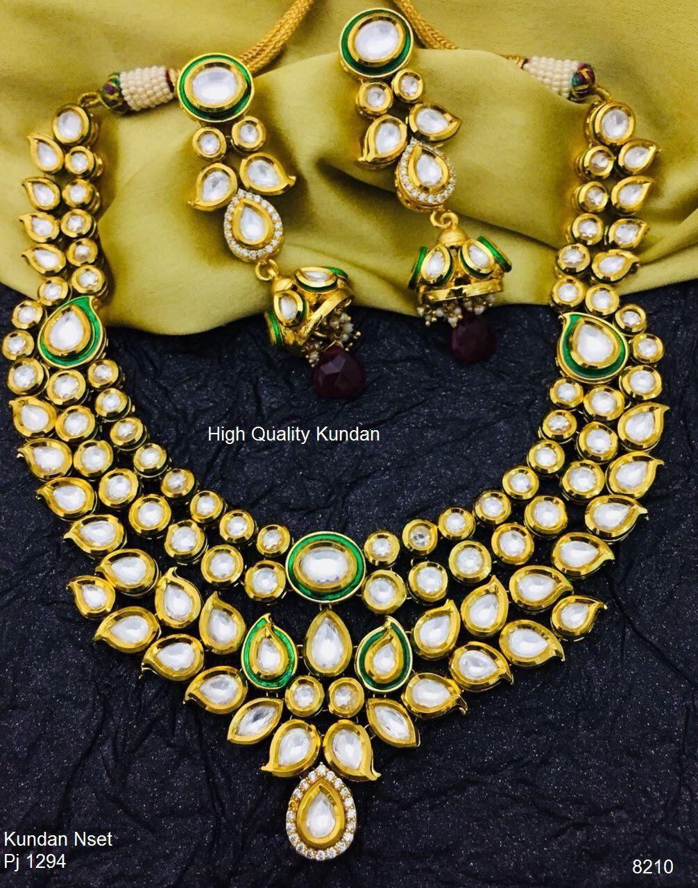 Kundan jewelry set in vibes pinterest jewelry kundan