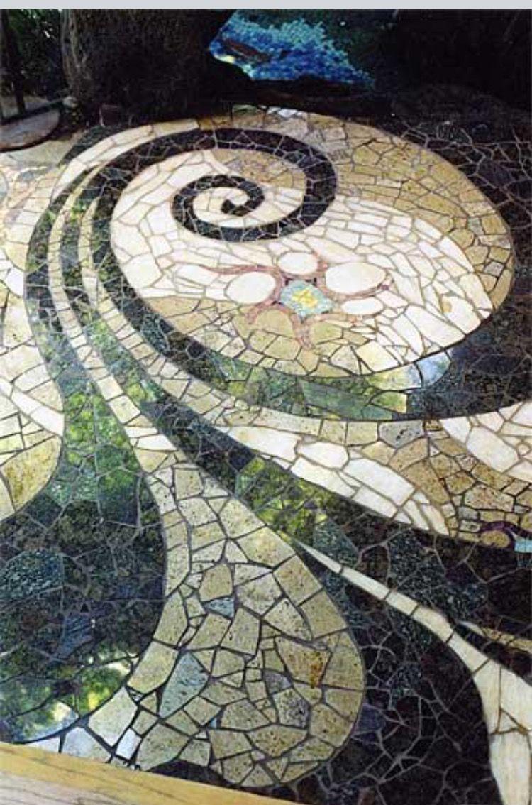 Pingl par manon charpentier sur mosaiques patio tiles - Fresque carrelage mural ...