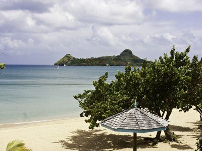 View From Beach Front Room At Bay Gardens Beach Resort, St. Lucia