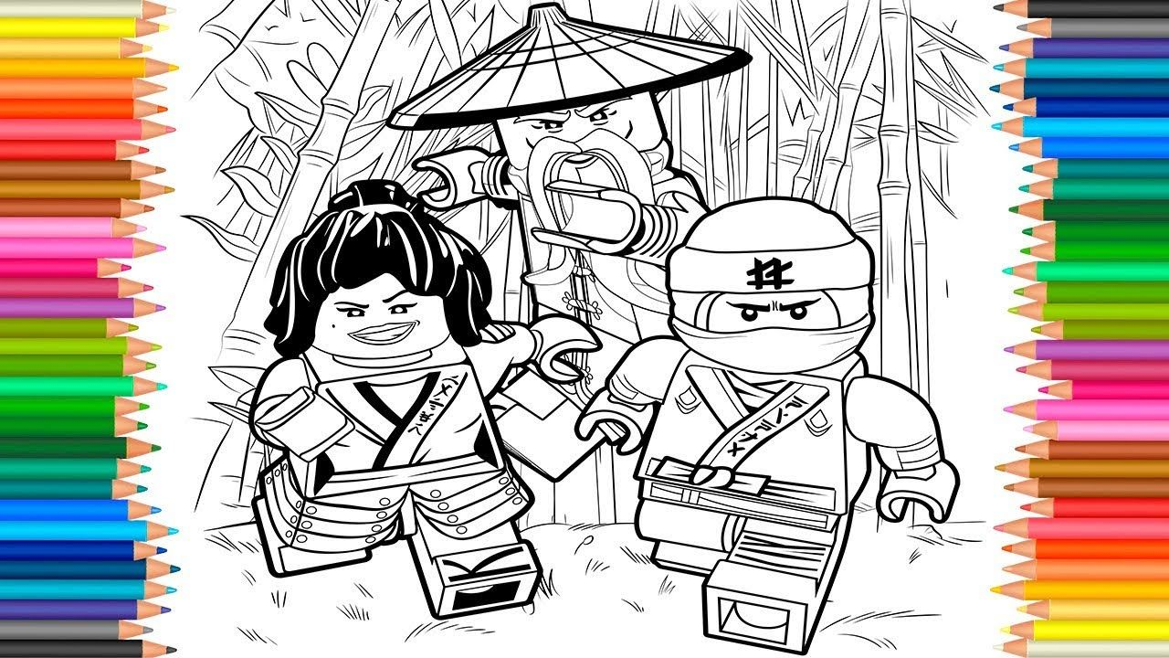 The LEGO Ninjago Movie 2017 | Coloring Pages Videos For Children ...
