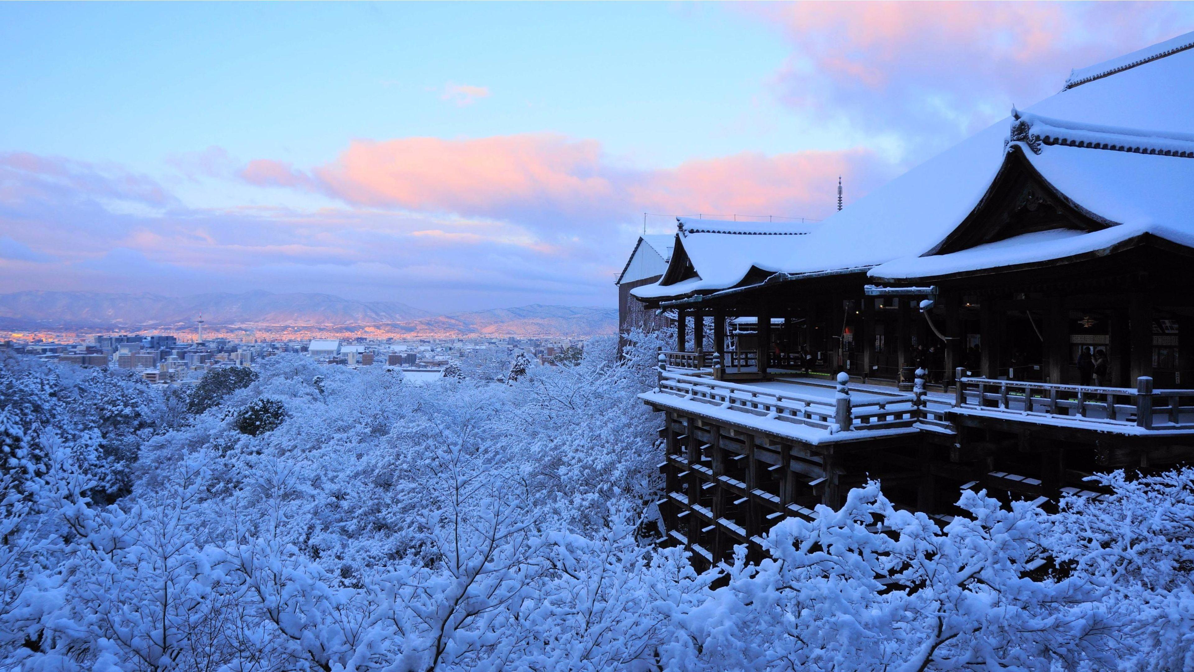 3840x2160 Amazing Winter 2016 Kyoto Japan 4k Wallpaper Free 4k Wallpaper Winter In Japan Kyoto Japan Japan