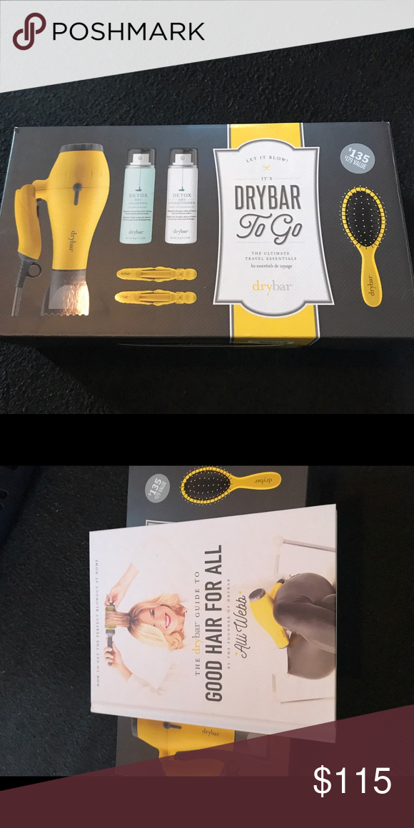 Drybar To Go Set Brand new in box-Drybar To Go and Good Hair for All Book by Alli Webb Other