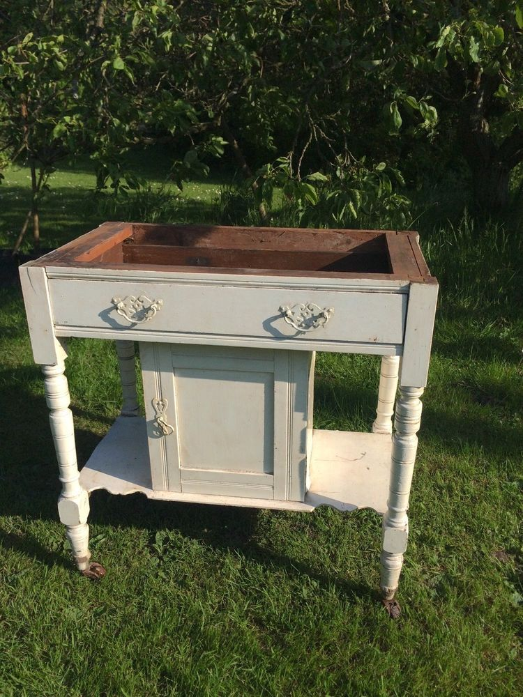 Victorian Pine Wash Stand Basin in Antiques, Antique Furniture ...