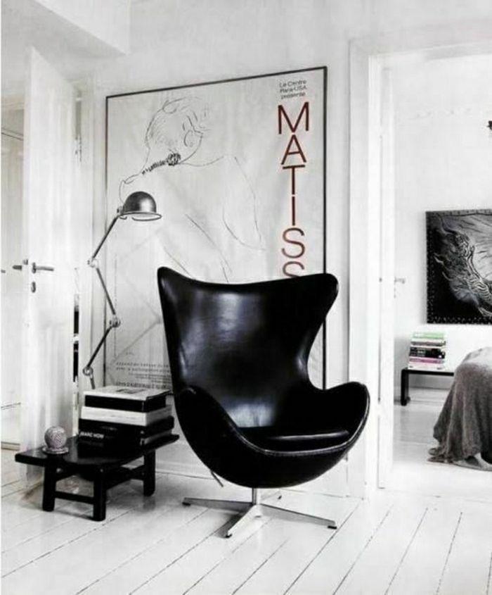 schwarze lederstühle lederstuh wohnzimmer einrichten wohnzimmer - moderne wohnzimmer gestalten