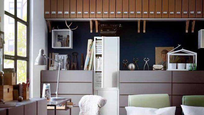 Rangement Classeurs Bureau Espace De Travail Ikea Fauteuil Bureau Maison Ikea
