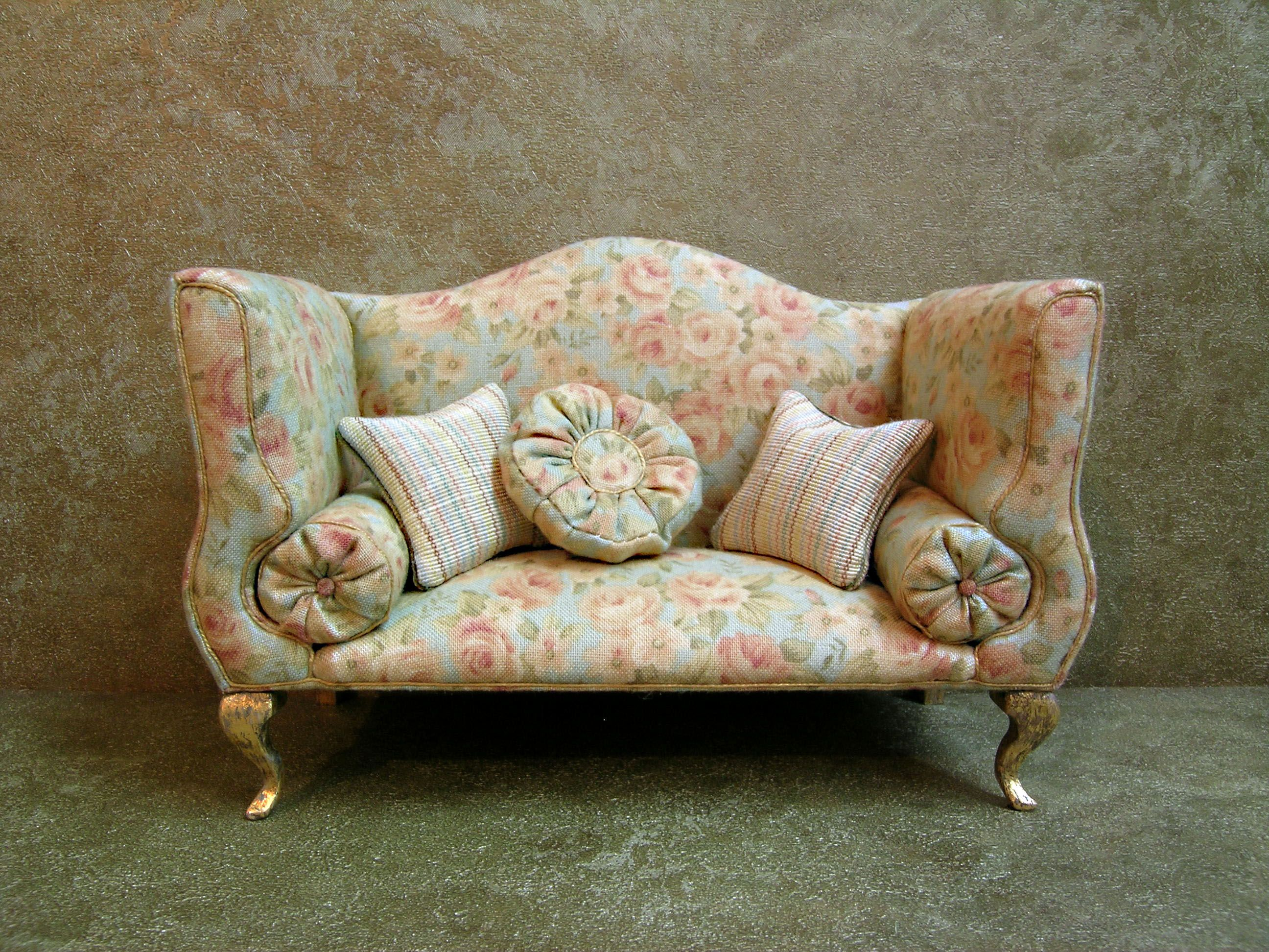 Miniature Sofa Marlow Reclining Loveseat And Chair Set 1 12 Scale By Desire Lafuente Pretty Minis