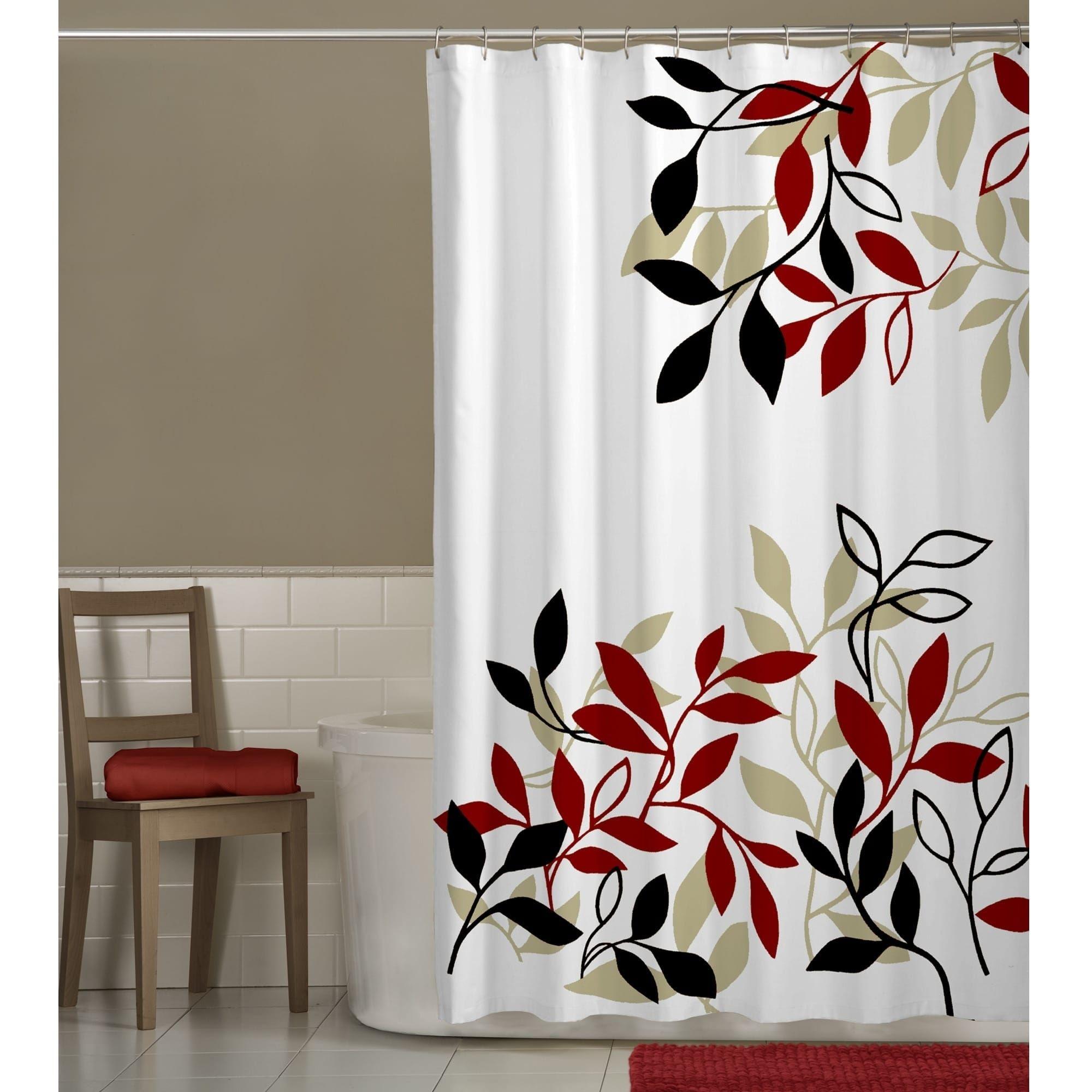 Maytex Satori Fabric Shower Curtain Nature