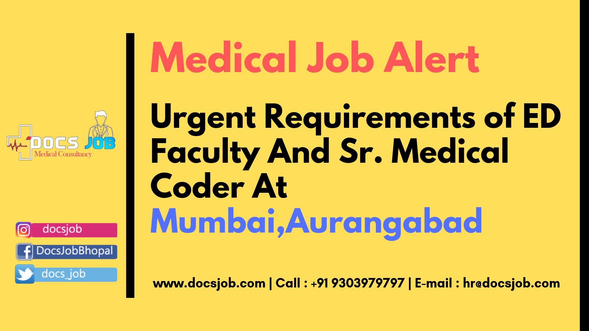 For More Detail or Contact Medical jobs, Medical coder