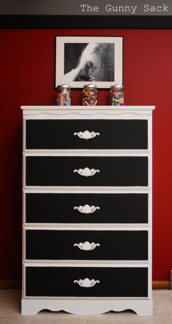 I Have Two Solid Wood Dressers To Refinish For The Girls Rooms I Am Going To Paint Both White An Furniture Makeover Black And White Furniture Bedroom Makeover