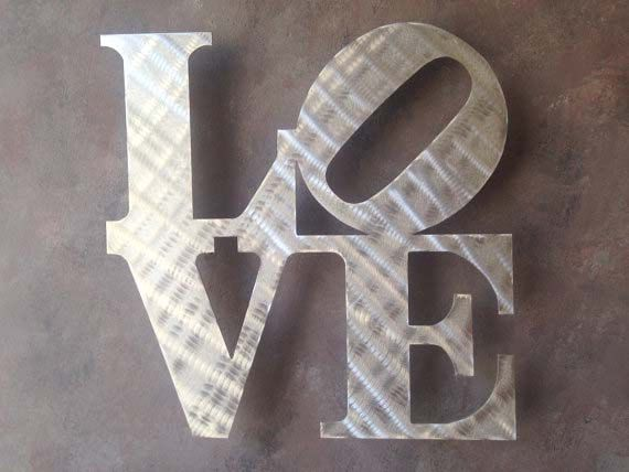 Love Metal Wall Art - Love Sign - Wall Art - Metal Art - Home
