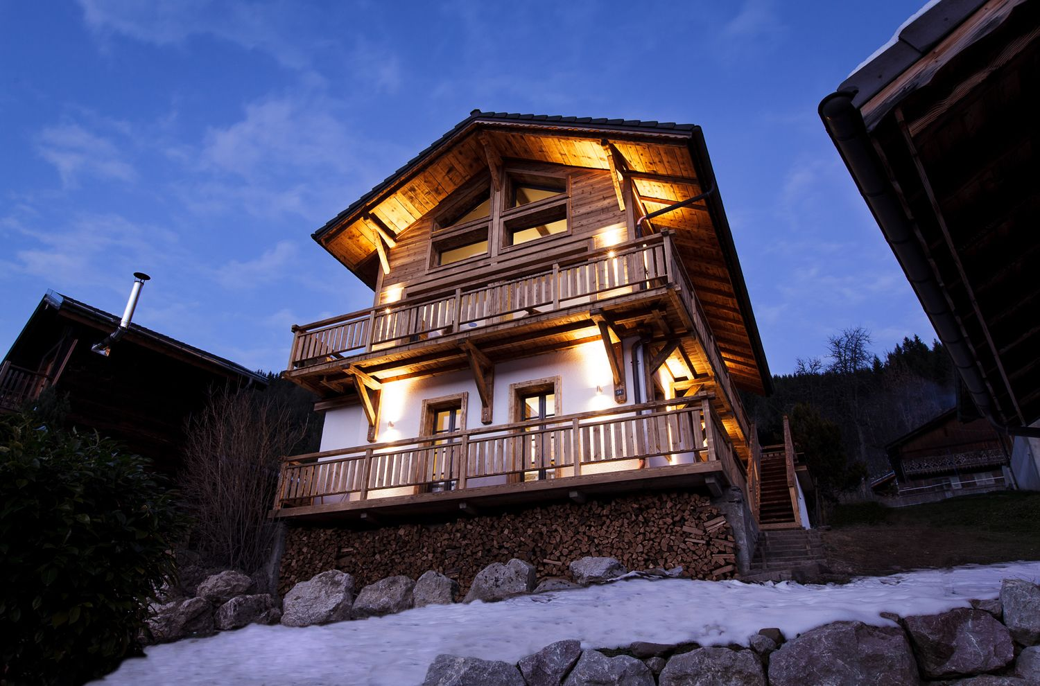 Chalet de Soie - Haute-Savoie, France. An unusual ski chalet, painstakingly restored, in fab Morzine. Be independent or order breakfast, tea and dinner - it's up to you!