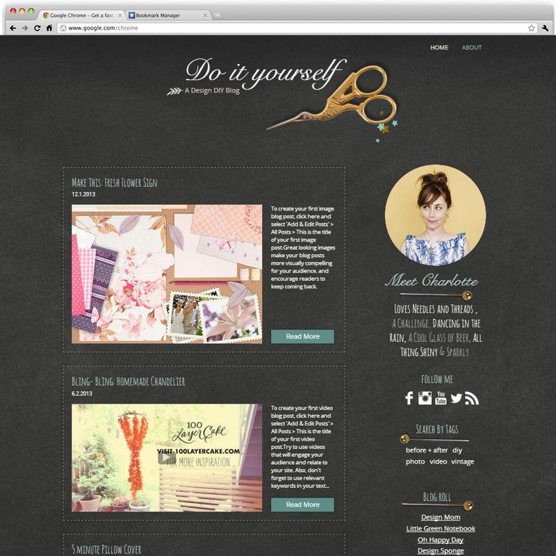 Home Design And DIY Handicraft Blog Template