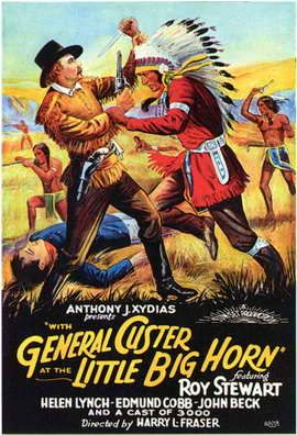 Theatrical poster for the 1926 silent film With General Custer at Little Big Horn.